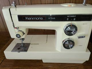 Vintage Kenmore 14 Stitch Sewing Machine in Cabinet 30 x 25 x 21 in