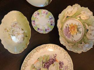 German Chinese and Bavarin Handpainted Porcelain China