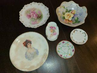 Bavarian and Japanese Handpainted Porcelain China