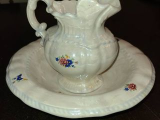 1975 Arners Handpainted Small Wash Basin and Pitcher