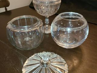 Kate Spade Crystal Bowl with Assorted Crystal and Glass Candy Dishes