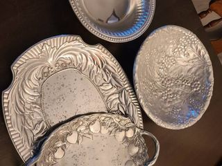 Wilton Armetale and Arthur Court Pewter Serving Items