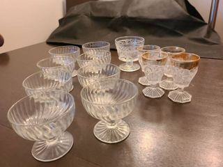 Assorted Glass Dessert Dishes