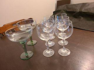 Wine Glasses with Margarita Glasses
