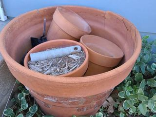Clay Flower Pot 18 in Diameter with Smaller Clay Pots