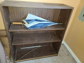 BOOK SHElF  43  X 36  X 12  Approximately  umbrella included