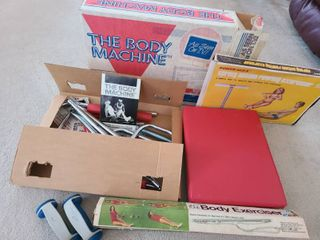 3 VINTAGE Exercise Machines In their original box  1 is still new in box