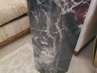 Pedestal  FAUX MARBlE  30 x 12 x 12