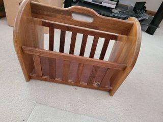 Wooden Magazine Rack