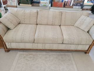 COUCH  with BAMBOO on sides  24 x 81 x 34