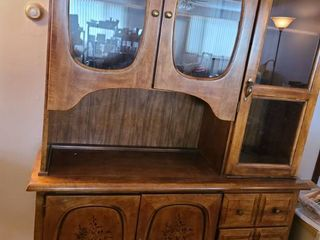 CHINA HUTCH w bottom Storage and 3 drawers  77  x 53  x 17  MATCHES the Buffet located in lot  1000