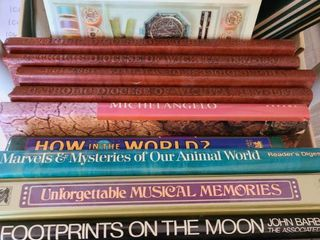 lot of BOOKS  HOW TO  Footprints on the moon  and etc