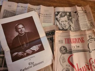 COPIES OF OlD NEWSPAPERS and CATHOlIC ADVANCE