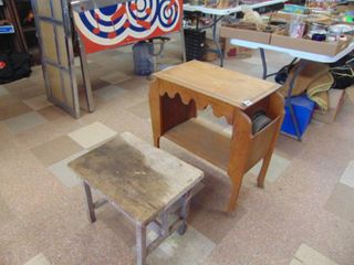 Shop Built Table and Maple Pocket Table   Both Need TlC   very loose
