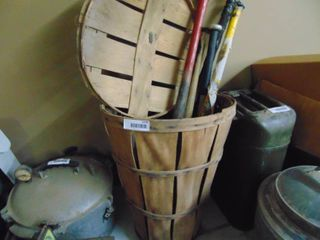 Basket with Aluminum and Wood Bats
