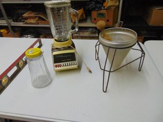 Osterizer with Accessories and strainer