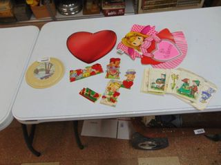Small Selection of Valentines and Vintage Paper
