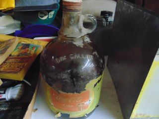 Gallon Coca Cola Syrup Bottle with Contents