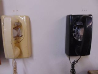 Pair of Wall Rotary Phones
