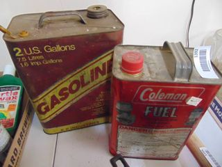 2 Gallon Metal Gas Can and Coleman Fuel can