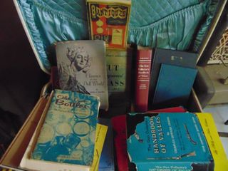 Vintage Suitcase Full of Antique and gun Price guides