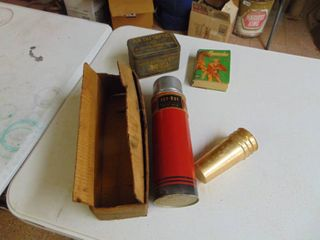 Au de Septic Tin  Vintage Thermos and more