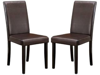 Ryan Bonded leather Dining Chair  Set of 2  by Christopher Knight Home  Retail 109 99