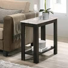 furniture of America Kari transitional side table with black marble paper Retail 117 99