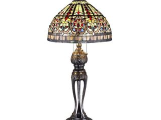 Tiffany style Emperor Table lamp   35 inches high x 22 inches diameter  Retail 211 17