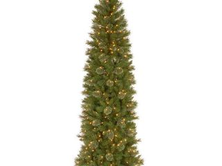 Null 6 and half tacoma pine pencil slim tree with clear lights Retail 130 99