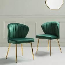 milia dining chair set of 2 GREEN  Retail 187 99