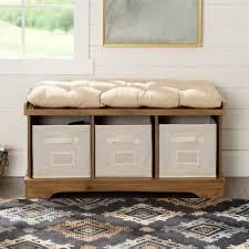 the Gray barn paradise hill barnwood storage bench with cushion Barnwood  Retail 178 49