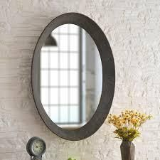 Genevieve Galvanized 37 inch Height Oval Wall Mirror   37  x 27  Retail 146 99