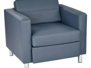 pacific arm accent chair with crome legs Blue  Retail 342 99