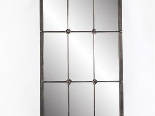 37 75in  H Metal Window Frame Wall Mirror   A  Retail 104 49 antique brown
