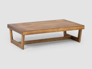 Sherwood Outdoor Acacia Wood Coffee Table by Christopher Knight Home   Retail 123 00 teak finish