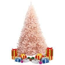 Pink Faux PVC Christmas Tree with Iron Stand  Retail 89 99 7 foot