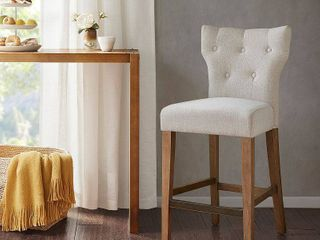 Madison Park Hayes Cream Tufted Back Counter Stool  Retail 167 99
