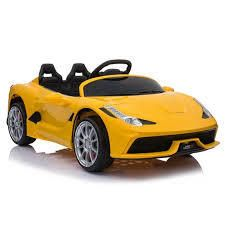 12V Kids Ride On Sports Car 2 4GHZ Remote Control Yellow  Retail 219 99