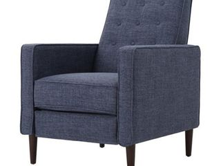 Mervynn Mid Century Button Tufted Fabric Recliner Club Chair by Christopher Knight Home  Retail 268 49