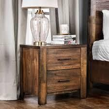 Carbon loft Marquez Rustic Oak 2 drawer Nightstand   Retail 189 99