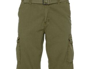 XRAY Men s Belted Classic Fit Cargo Shorts with Snap Closure