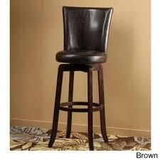 Copper Grove Glenariff Faux leather Swivel Stool  Retail 122 99 walnut and black