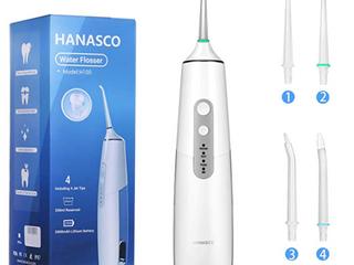 Hanasco  Oral Irrigator  Water Flosset  Model No  H100  White