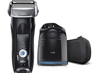 Braun Electric Razor for Men  Series 7 7880CC Electric Shaver With Precision Trimmer  Rechargeable  Wet   Dry Foil Shaver  Clean   Charge Station   Travel Case