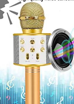 Newbrights Handheld KTV Microphone   Champagne Gold