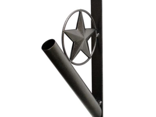 Star Flag Pole Mount   Black