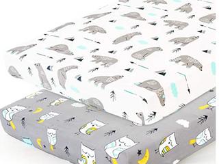 Brolex Pack n Play Sheet   Mini Crib Sheets   Set of Two