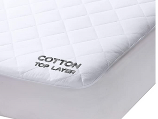 MildDreams  Queen Hypoallergenic Quilted Fitted  60In 80In Deep 16In  Mattress Pad  100  Cotton Cover