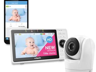 Vtech Wi fi 1080p  360 Degree Pan  Tilt   Zoom Video Baby Monitor  vm901    Used